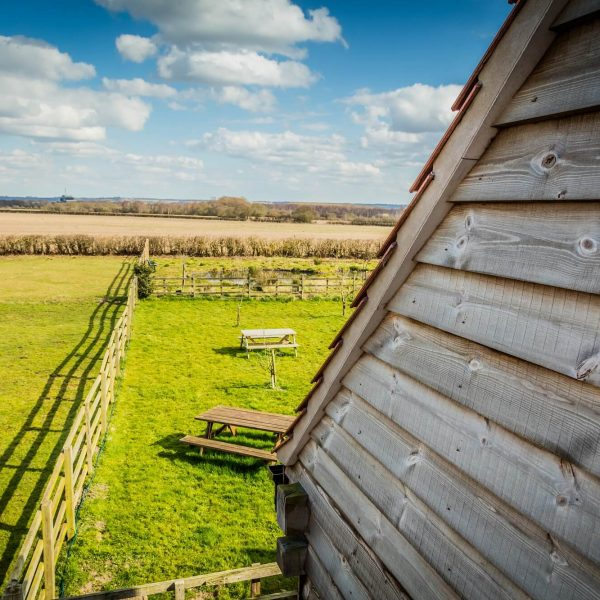 A view from Oakloft self catering apartment, Redhouse Farm, Lincolnshire