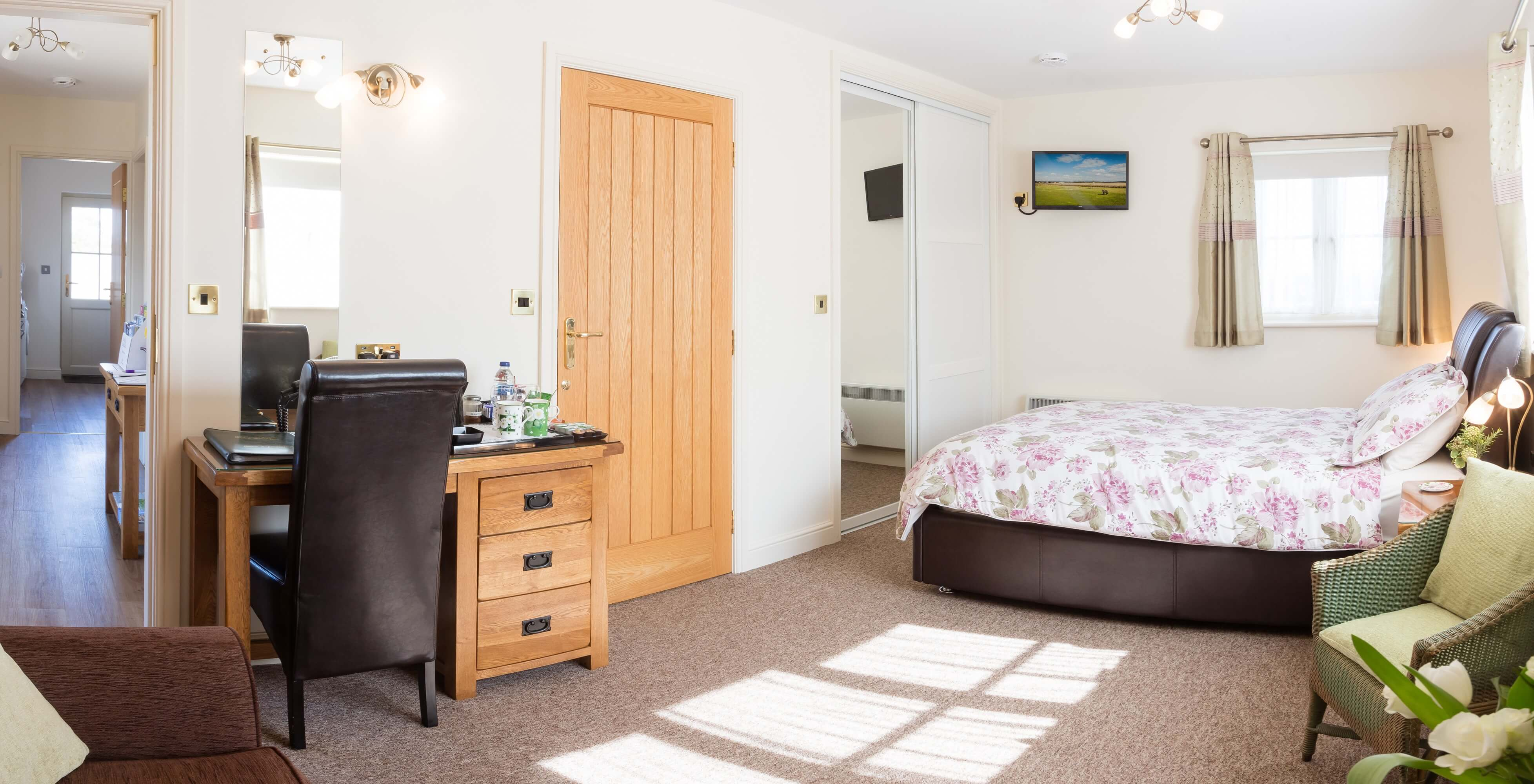 Suite 1 double family room Redhouse Farm Bed & Breakfast near Lincoln